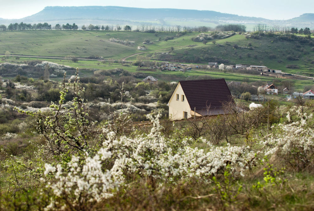 Dom we wsi Klinowka na Krymie.
