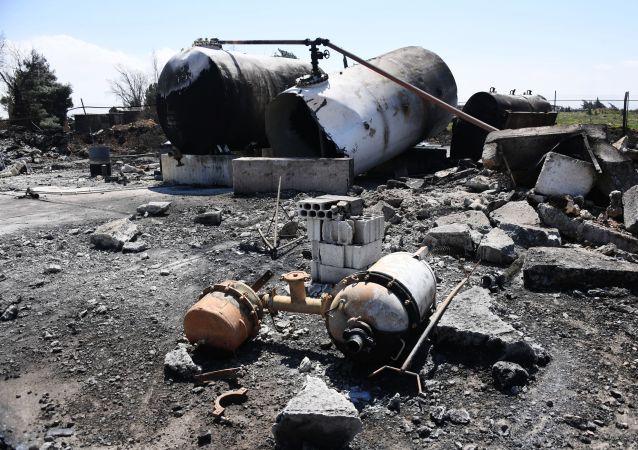 Syryjska baza lotnicza Sajrat po amerykańskim nalocie