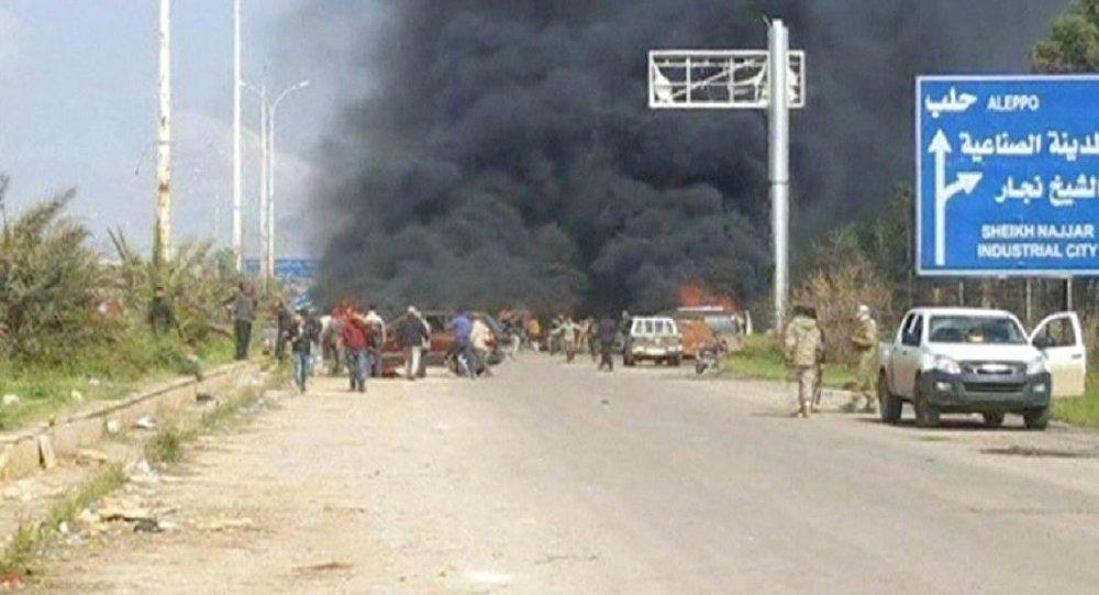 Do eksplozji doszło na zachód od miasta Aleppo