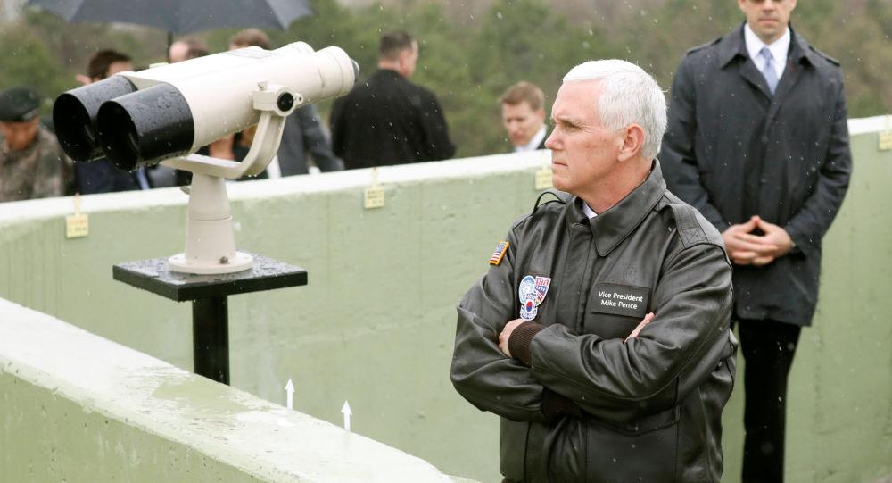 Wiceprezydent USA Mike Pence odwiedził strefę zdemilitaryzowaną rozcinającą Półwysep Koreański