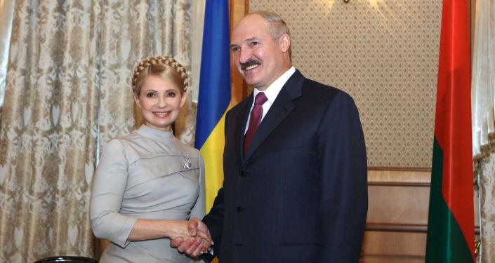 Julia Tymoszenko i Aleksandr Łukaszenka