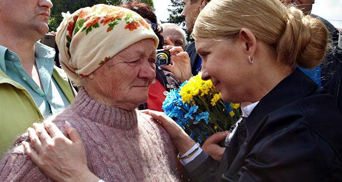 Julia Tymoszenko w obwodzie charkowskim