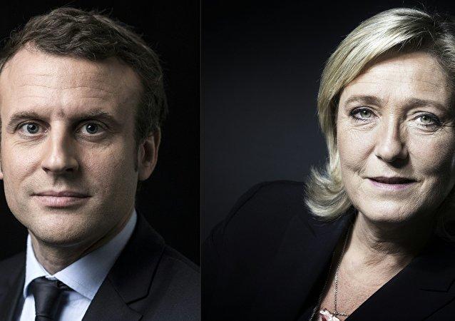 Marine Le Pen/ Emmanuel Macron