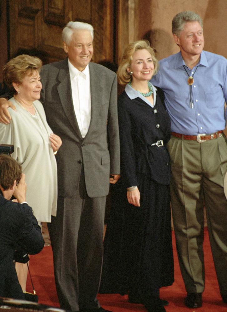 Państwo Jelcynowie i państwo Clintonowie