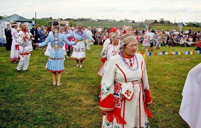 Czuwaskie święto Akatuj we wsi Kazanka
