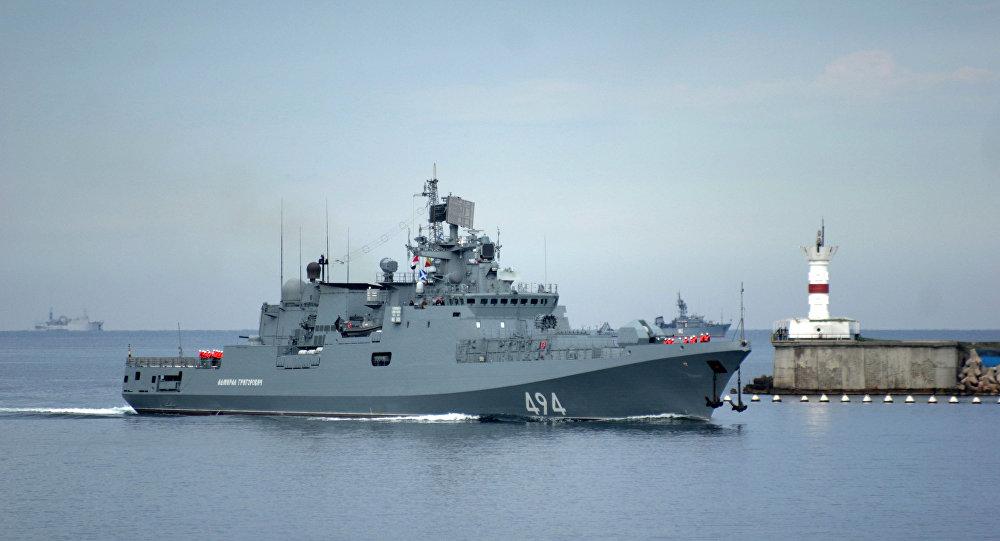 """Fregata rosyjskiej Floty Czarnomorskiej """"Admirał Grigorowicz"""""""