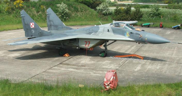 Myśliwiec polskich sił powietrznych MiG-29