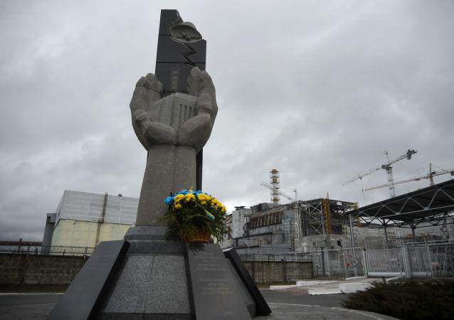 Pomnik likwidatorów skutków katastrofy w Czarnobylskiej Elektrowni Jądrowej