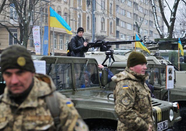 Obchody 25. rocznicy powstania Sił Zbrojnych Ukrainy we Lwowie