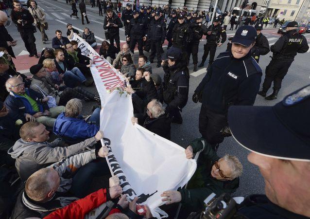 Demonstracja przeciwko nacjonalistom, Warszawa 29.04.2017