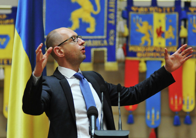 Ukraiński premier Arsenij Jaceniuk