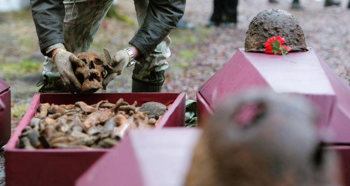 Pochówek szczątków żołnierzy radzieckich