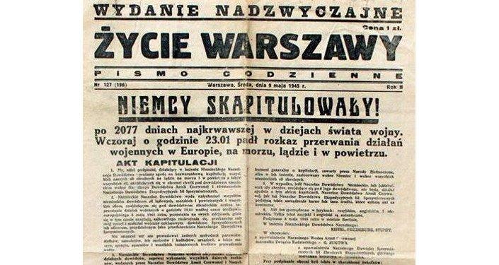 Życie Warszawy 9 maja 1945: Niemcy skapitulowały!