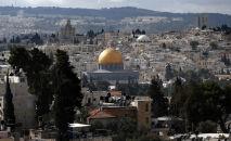 Jerozolima, widok na stare miasto i meczet Al-Aqsa