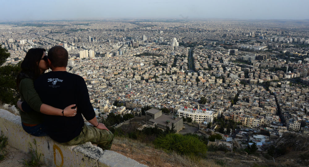 Widok na Damaszek z góry Kassion