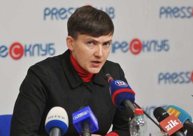 Konferencja prasowa Nadiji Sawczenko. Zdjęcie archiwalne