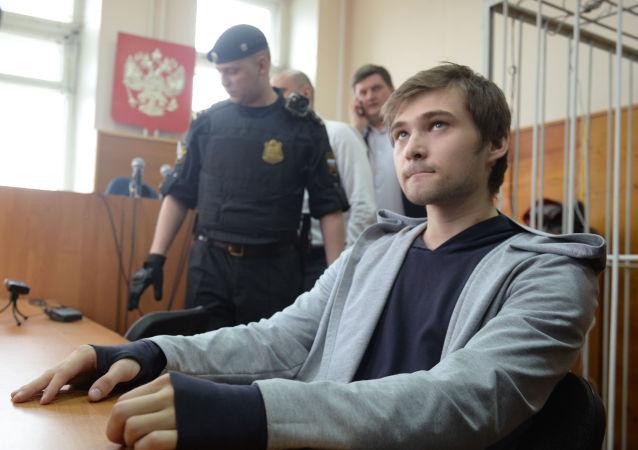Posiedzenie sądu w sprawie blogera Rusłana Sokołowskiego w Jekaterynburgu