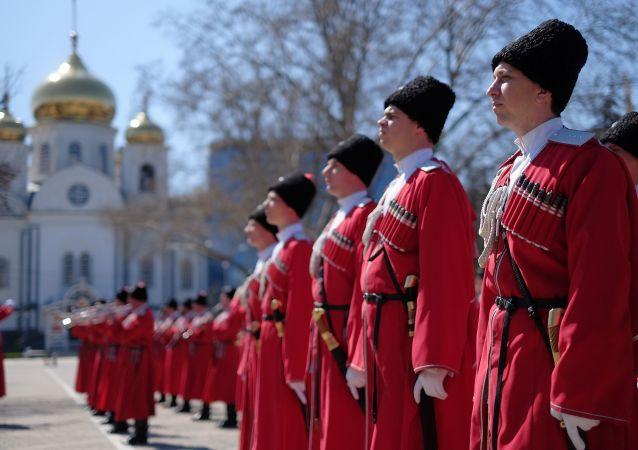 Церемония Час славы Кубани в КраснодареKozacy. Kubań