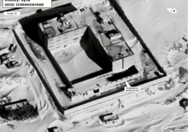 Zdjęcie satelitarne więzienia Sednaya w Syrii