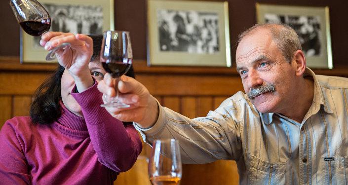Degustacja wina w krymskiej Massandrze