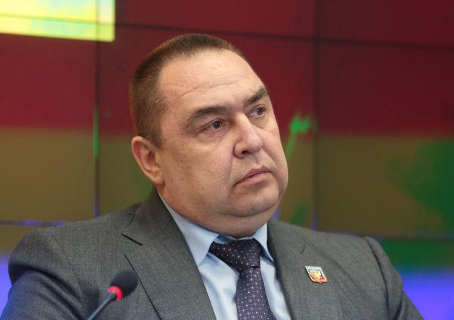 Szef proklamowanej w trybie jednostronnym Ługańskiej Republiki Ludowej Igor Płotnicki
