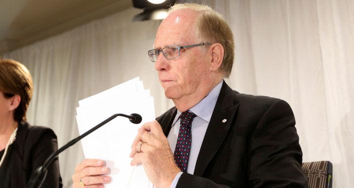 Szef niezależnej komisji WADA Richard McLaren po prezentacji w Toronto