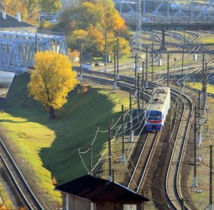Węzeł kolejowy w pobliżu dworca południowego w Kaliningradzie