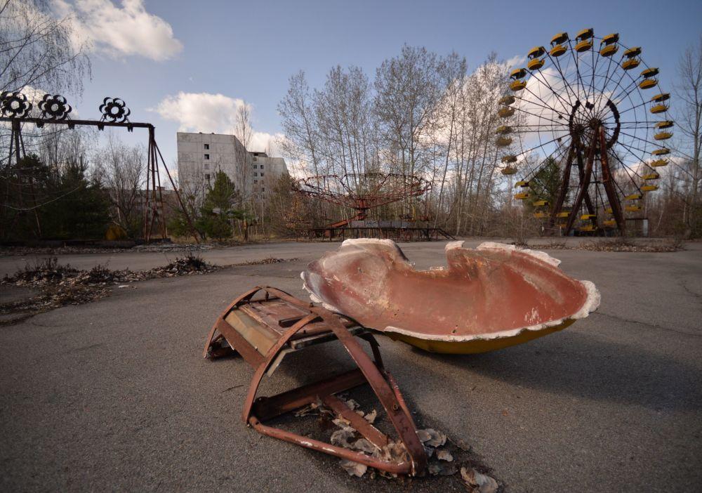Ukraińskie miasto Prypeć w Czarnobylskiej Strefie Wykluczenia.