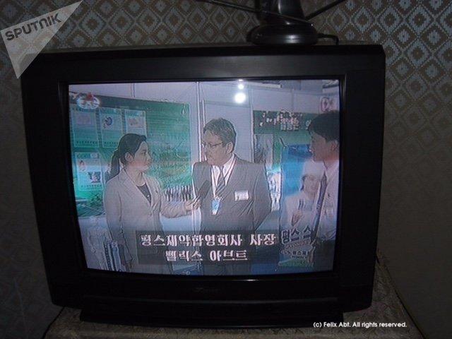 Felix Abt w północnokoreańskiej telewizji