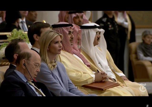 Sekretarz handlu USA zasnął podczas wystąpienia Trumpa w Arabii Saudyjskiej