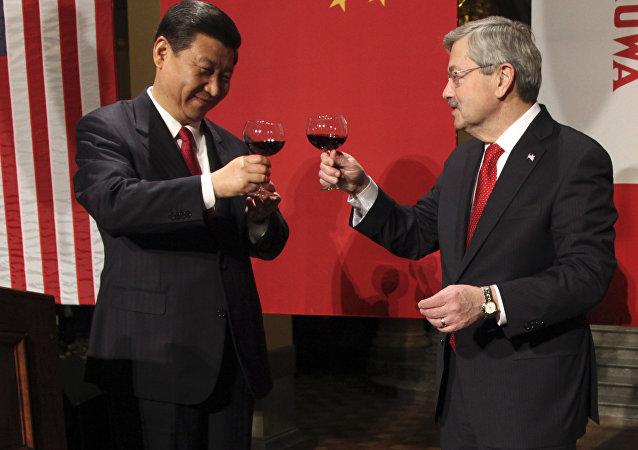 Xi Jinping i Terry Branstad, 15.lutego 2012 roku
