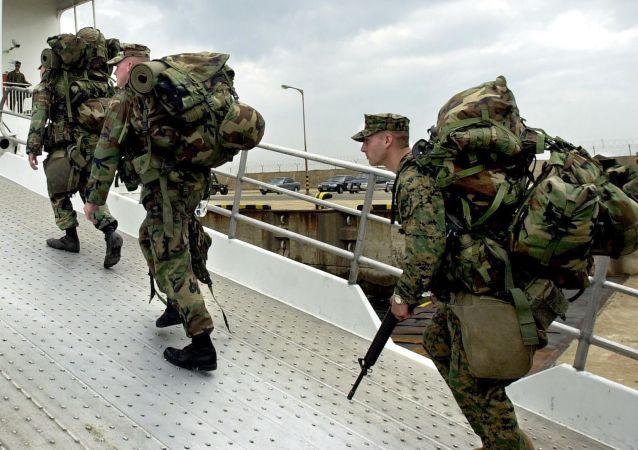 Piechota morska USA na bazie w Okinawie