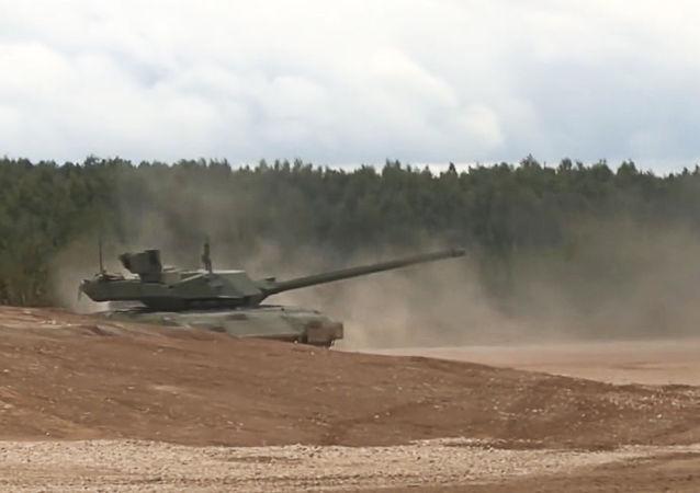 Pokaz czołgu T-14 Armata