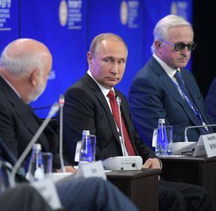 Władimir Putin na XXI Międzynarodowym Forum Ekonomicznym w Petersburgu