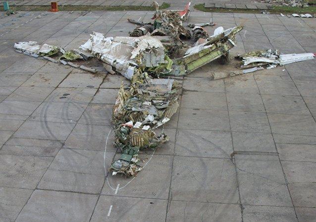 Wrak Tu-154 w Smoleńsku