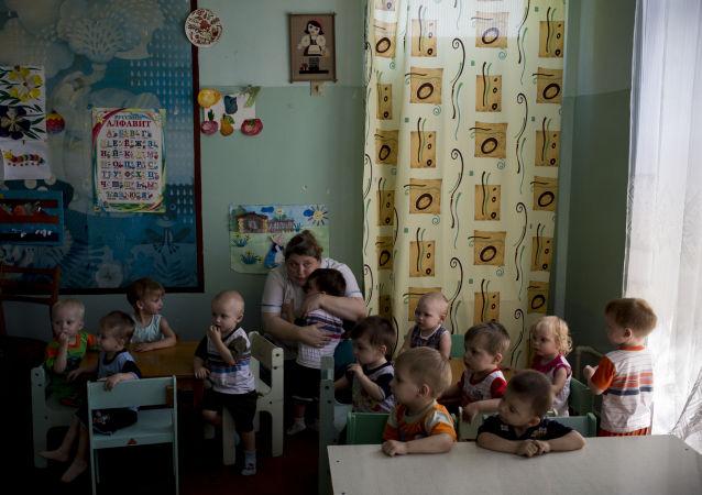 Ewakuacja dzieci z domu dziecka w Ługańsku