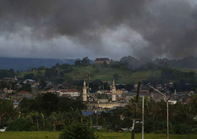 Dym nad filipińskim Marawi
