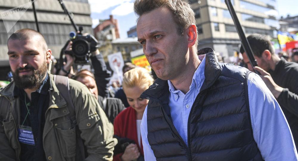 Opozycyjny polityk Aleksiej Nawalny