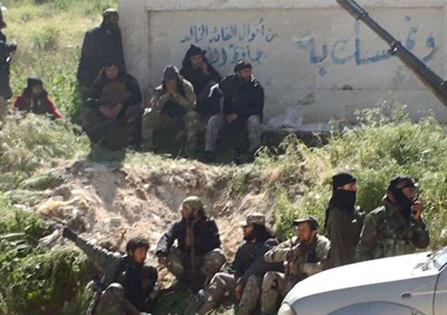 Bojownicy islamistycznej organizacji terrorystycznej Dżabhat an-Nusra