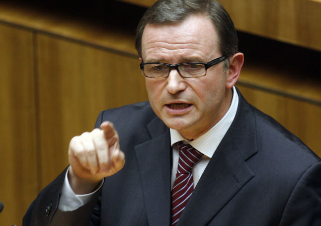 Austriacki polityk Karlheinz Kopf