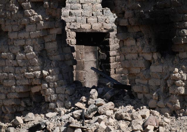 Zniszczenia w mieście Arak