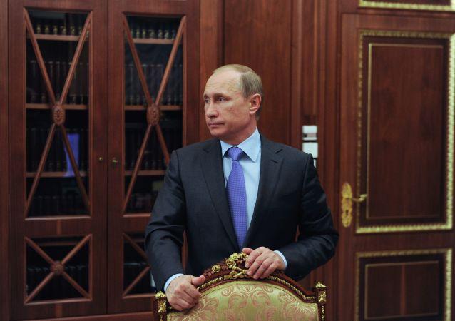Prezydent Rosji Władimir Putin na Kremlu
