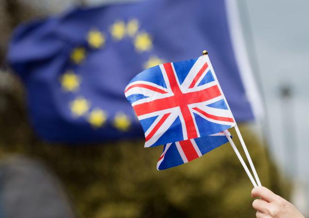 Przeciwnicy Brexitu na londyńskiej ulicy