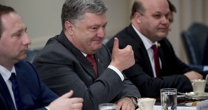 Prezydent Ukrainy Petro Poroszenko podczas spotkania z sekretarzem obrony USA Jamesem Mattisem w Pentagonie