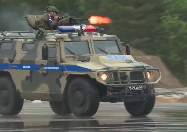 Otwarcie wojskowego etapu konkursu  Patrol drogowy na International Army Games 2017