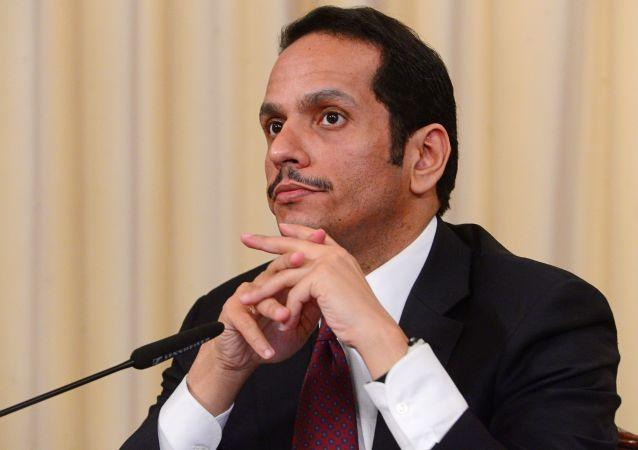 Minister spraw zagranicznych Kataru Muhammad ibn Abd ar-Rahman as-Sani