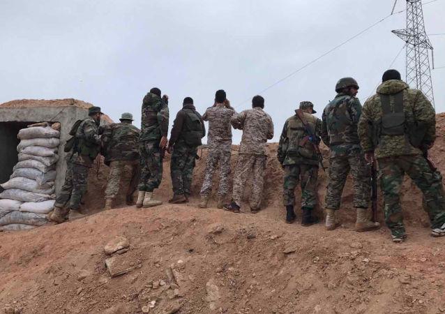 Żołnierze syryjskiej armii, prowincja Hama