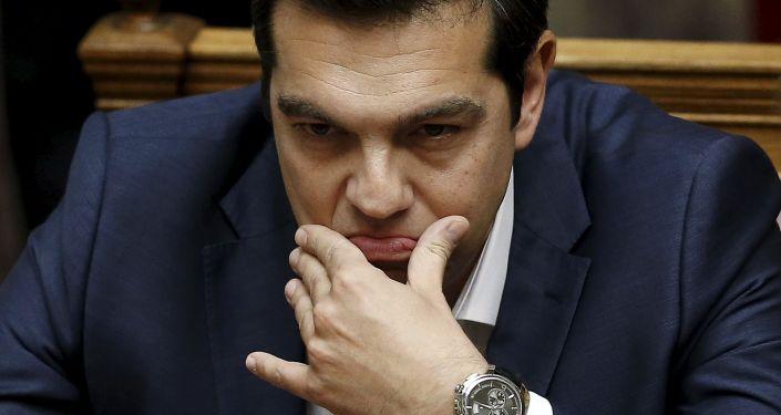 Premier Grecji Aleksis Tsipras