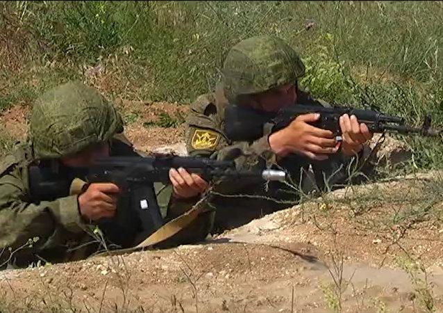 Rekruci piechoty morskiej Floty Czarnomorskiej