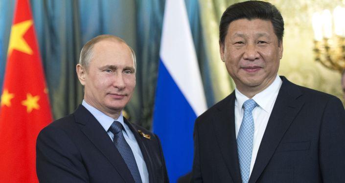 Prezydent Rosji Władimir Putin i przewodniczący ChRL Xi Jinping na Kremlu